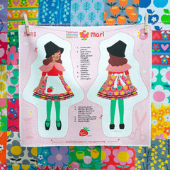 Welsh Doll - Cut and Sew - Little Welsh Girl - Mari