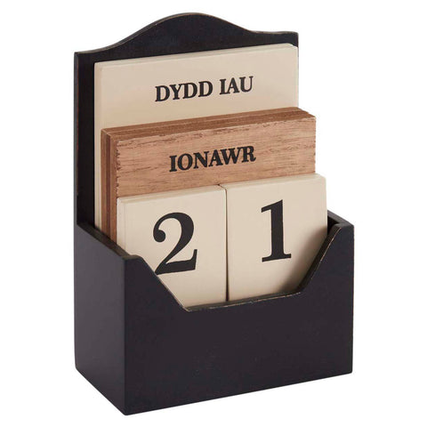 Calendar - Wooden Desk - Welsh Dates