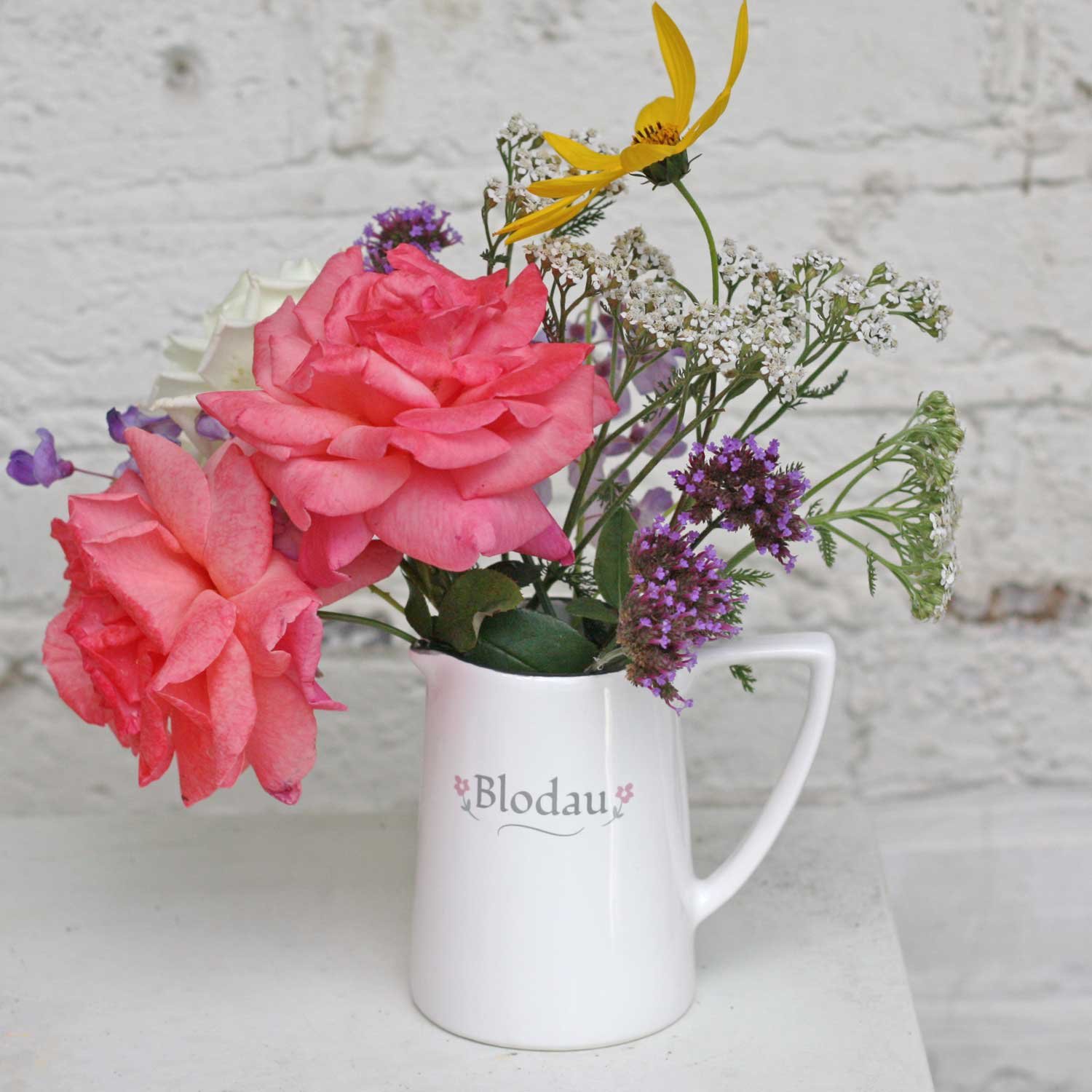 Jug / Vase - Flowers - Blodau - Small-The Welsh Gift Shop