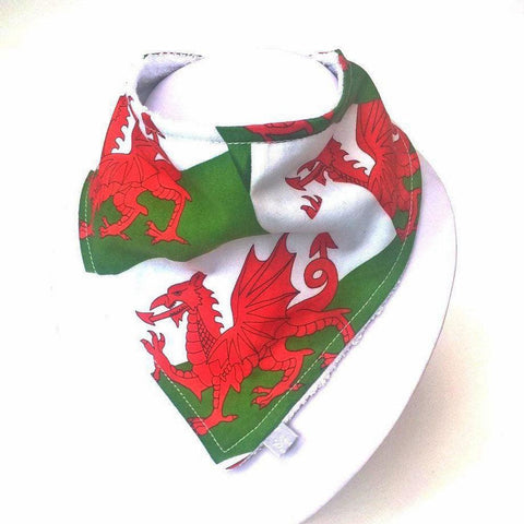 Dribble Bib / Bandana - Wales Flag - Welsh Dragon