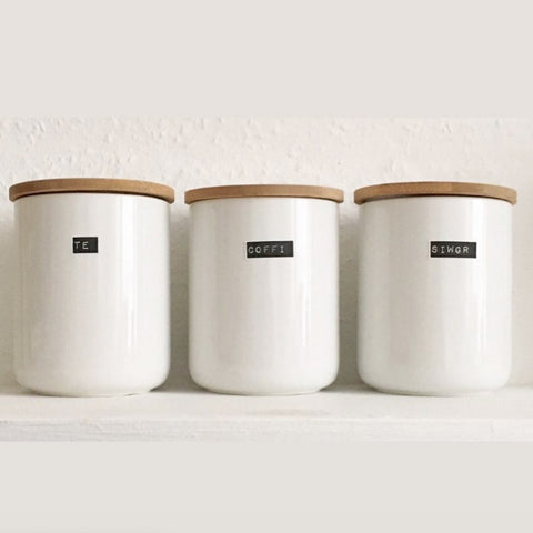 Container Set - Black Label - Te / Coffi / Siwgr
