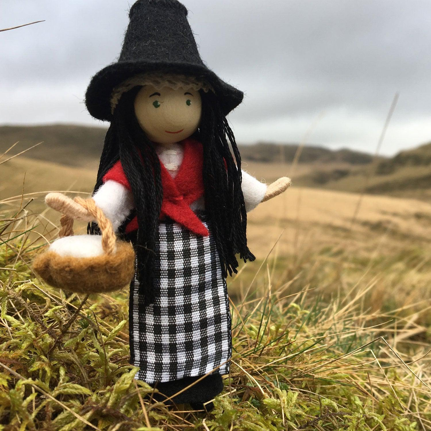 Doll - Traditional Welsh Lady - Handmade to Order