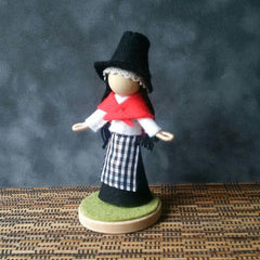 Doll - Traditional Welsh Lady - Handmade to Order-The Welsh Gift Shop
