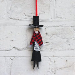 Peg Doll - Welsh Lady - Handmade in Wales