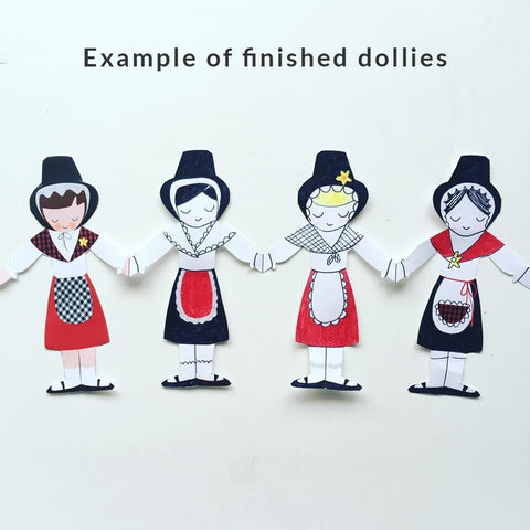 Paper Dollies - Welsh Lady - Activity Kit