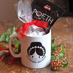 Gift Set - Mug & Welsh Hot Chocolate - Welsh Lady