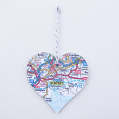 Decoration - Welsh Map Heart - Choose your Location