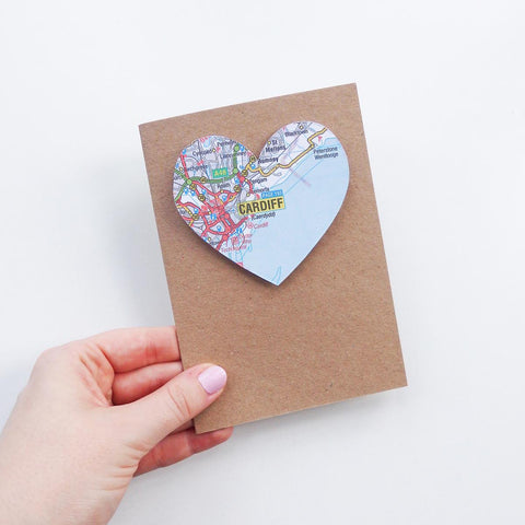 Welsh greeting cards from wales the welsh gift shop card welsh map heart choose your location card the welsh gift shop m4hsunfo Images