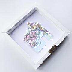 Framed Welsh Map - Home - Choose your Location-Picture / SIgn-The Welsh Gift Shop