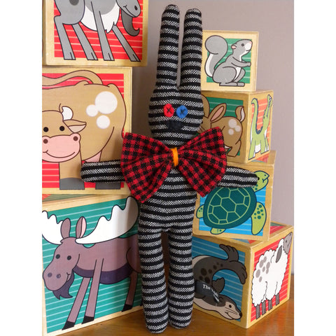 Welsh Rarebit Rabbit - Welsh Flannel - Handmade-The Welsh Gift Shop