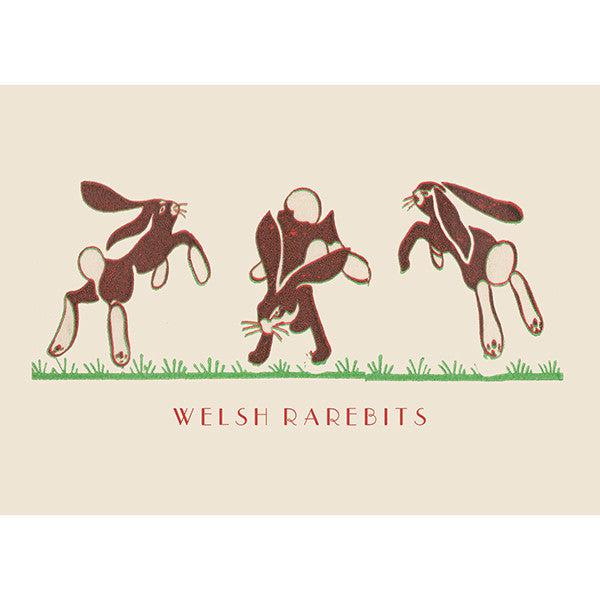 Card - Welsh Rarebits / Rabbits-Card-The Welsh Gift Shop