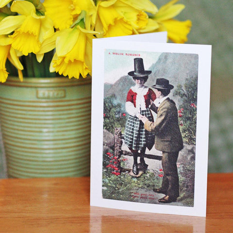 Card - Vintage - A Welsh Romance-Card-The Welsh Gift Shop