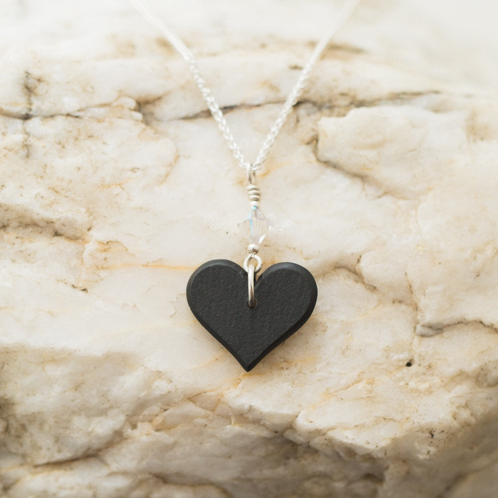 Necklace - Welsh Slate - Cariad / Love-The Welsh Gift Shop