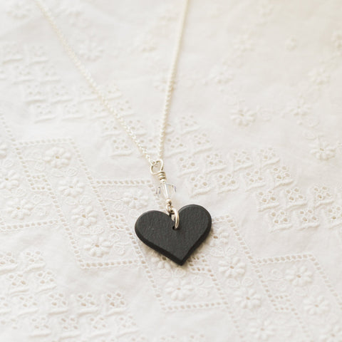 Necklace - Welsh Slate -  Cariad / Love