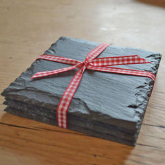 Coasters - Country style - Welsh Slate - Set of four-Kitchen-The Welsh Gift Shop