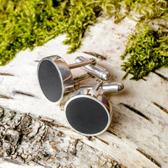 Cufflinks - Welsh Slate - 'Dewi'-The Welsh Gift Shop