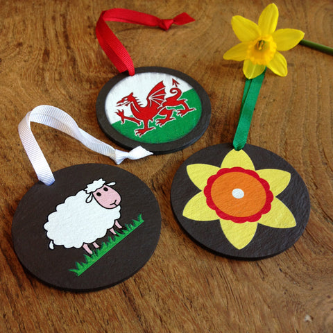 Slate Decoration - Welsh-Decoration-The Welsh Gift Shop