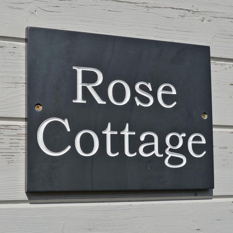 House Name - Welsh Slate - Handcrafted