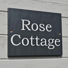 House Name - Welsh Slate - Handcrafted-Picture / SIgn-The Welsh Gift Shop