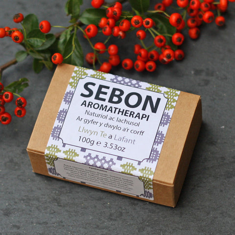Sebon - Welsh Language Soap - Aromatherapi