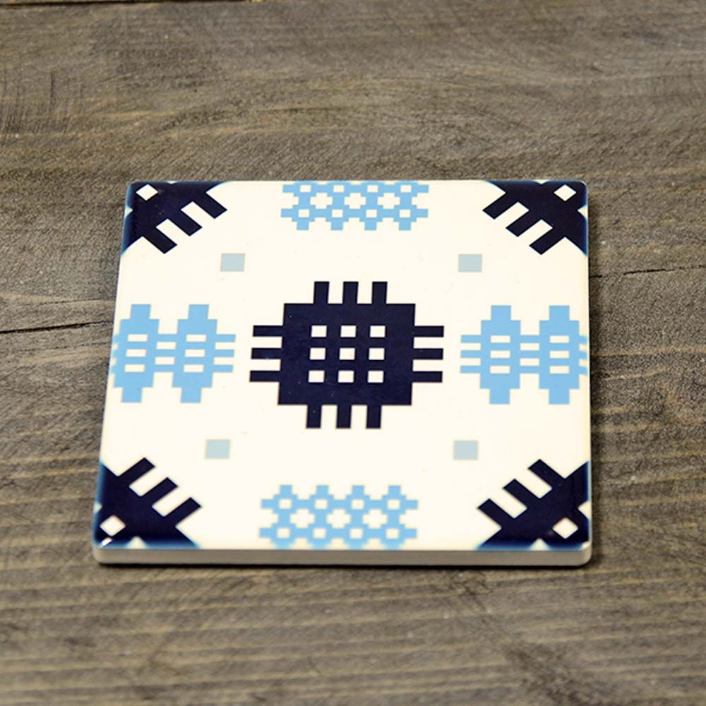 Coaster - Ceramic - Welsh Tapestry - Blue