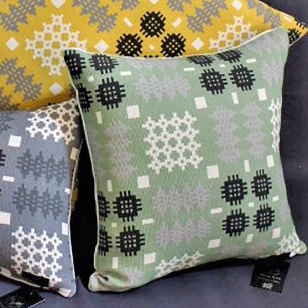 Cushion - Welsh Tapestry Print - Green