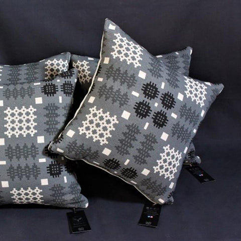 Cushion - Welsh Tapestry Print - Grey