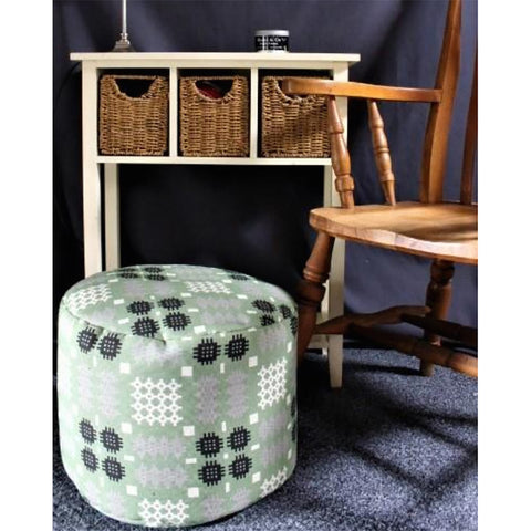 Foot Rest / Pouffe - Welsh Tapestry Print