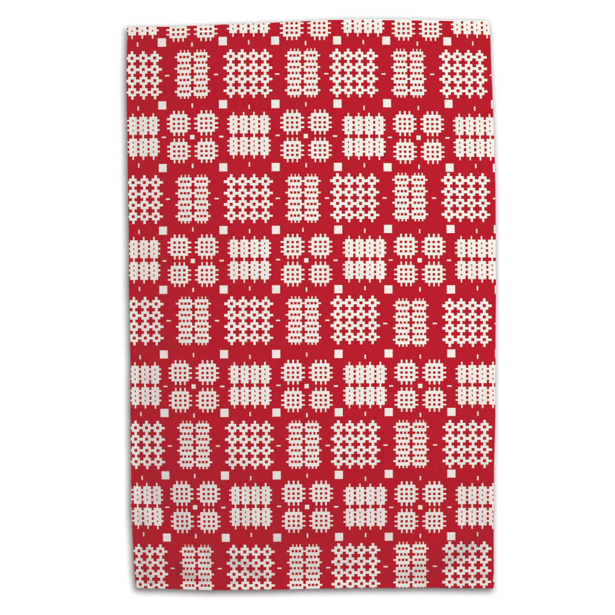 Tea Towel - Welsh Tapestry - Red