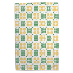 Tea Towel - Welsh Tapestry - Yellow & Green - Exclusive