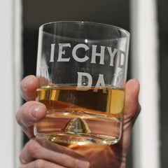 Tumbler / Whisky Glass - Iechyd Da - Good Health - NEW-Kitchen-The Welsh Gift Shop
