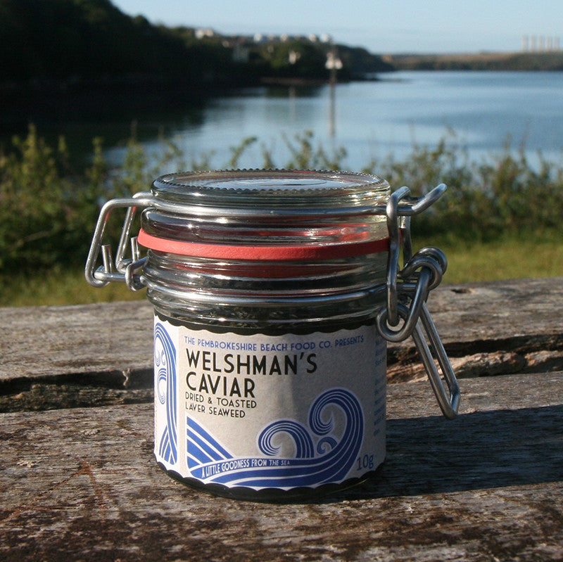 Welshman's Caviar - Laver Seaweed - Kilner Jar-Kitchen-The Welsh Gift Shop