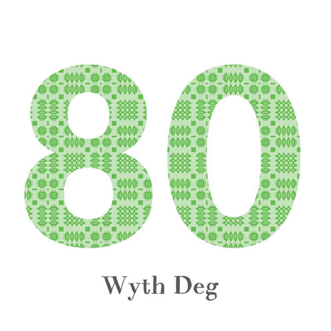 Card - Birthday / Anniversary - Wyth Deg - 80