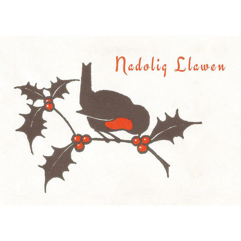 Card - Nadolig Llawen - Christmas Robin-Card-The Welsh Gift Shop