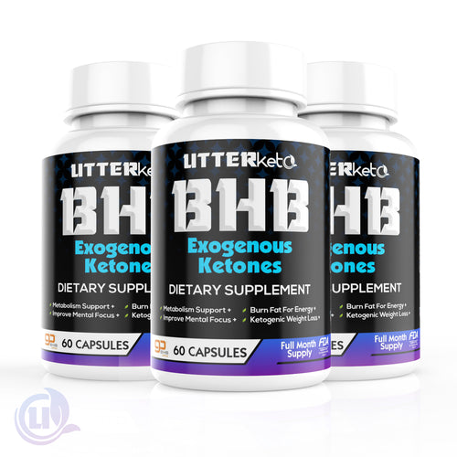 UtterKeto BHB Exogenous Ketones - 3 Pack Bundle