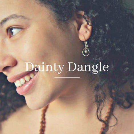 Dainty Round Dangle Earrings