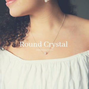 Round Crystal Healing Necklaces