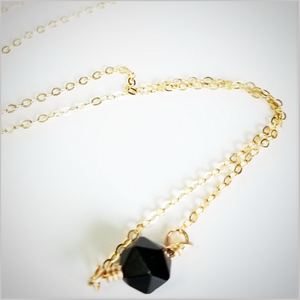 Natural Faceted Black Tourmaline Necklace