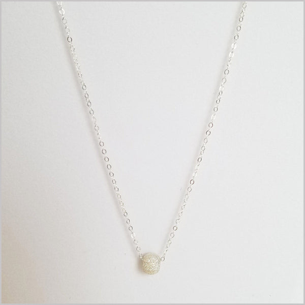Silver Stardust Bead Necklace