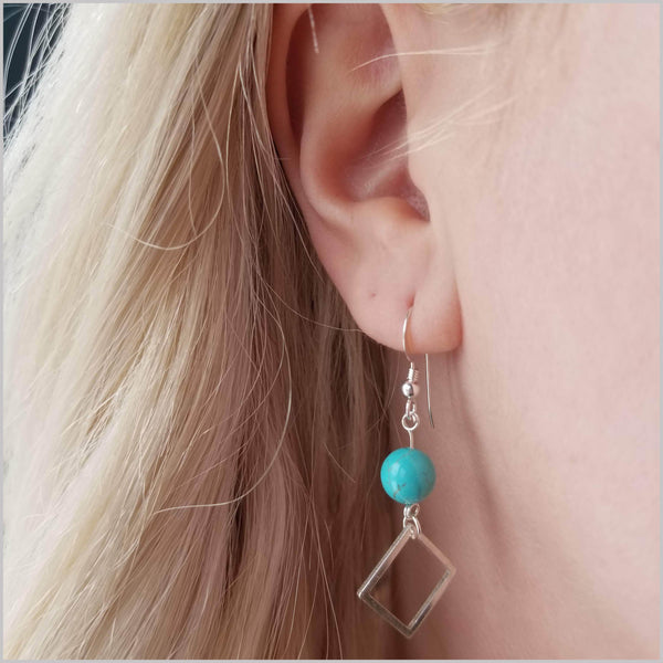 Square Turquoise Dangle
