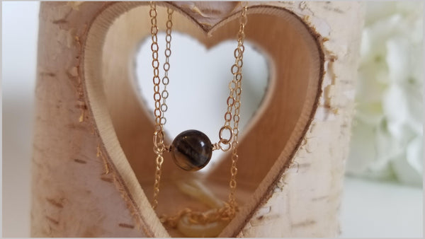 Natural Tigers Eye Bead Necklace