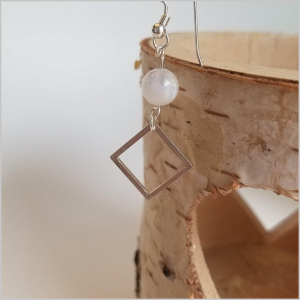 Square Moonstone Dangle