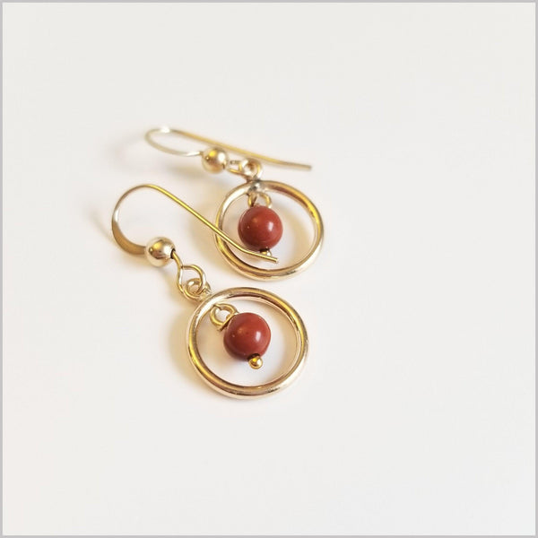 Round Red Jasper Dangle