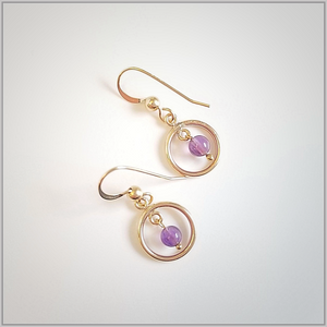 Round Amethyst Dangle