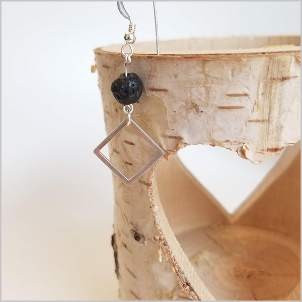 Square Lava Stone Dangle