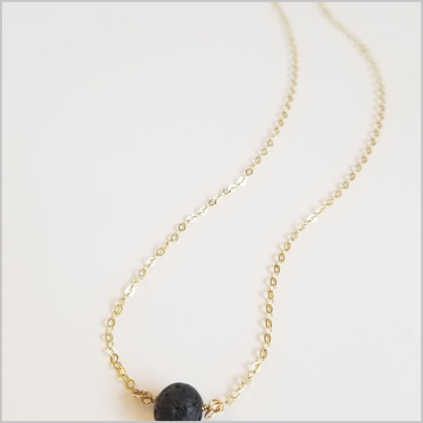 Natural Lava Bead Necklace