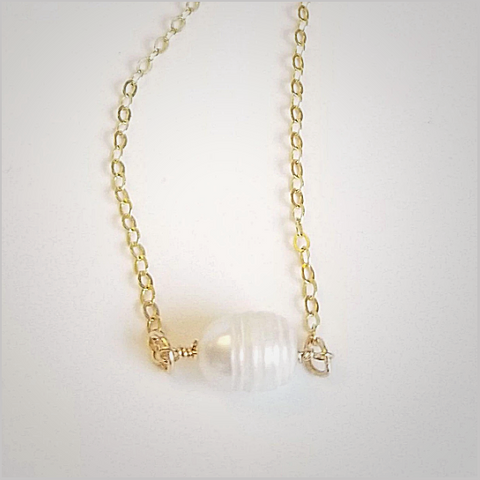 Natural Freshwater Pearl Bead Necklace
