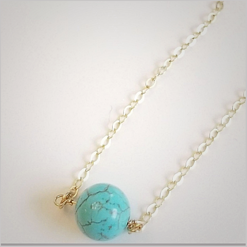 Natural Turquoise Bead Necklace