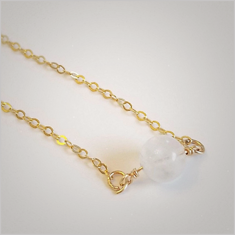 Natural Moonstone Bead Necklace