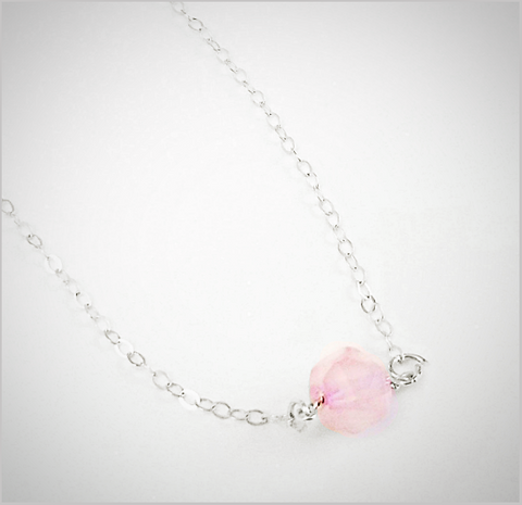 Natural Faceted Rose Quartz Necklace